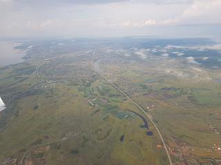 Flying over Yakutia