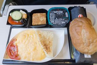 Flight meals on the flight of Turkish airlines Catania-Istanbul