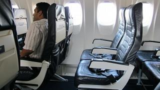 Пассажирские кресла в самолете ATR 72 авиакомпании Island Air