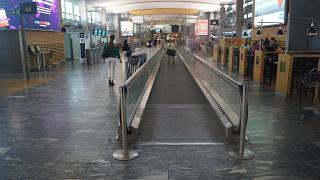 The departures area at Oslo airport Gardermoen