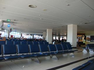 The waiting room in a clean zone of terminal 2 Antalya airport