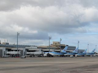 The Gran Canaria airport in the Canary Islands
