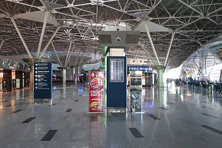 In the clean area of the international departures of the terminal A of Vnukovo airport