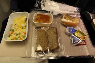 "Flight meals on the flight from Moscow to Blagoveshchensk airlines ""Russia"""