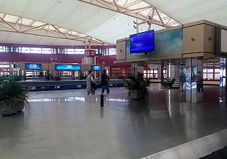 The baggage claim area in the international terminal of the airport of Sharm-El-Sheikh