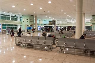 The departure lounge in terminal 1 of Barcelona airport El Prat