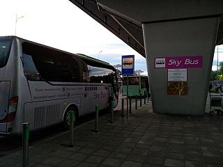 Bus Sky Bus from the airport Borispol in Kiev