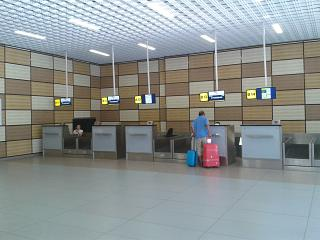 Reception at the terminal B of the airport Simferopol