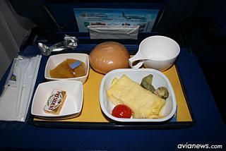 Питание на рейсе Киев-Франкфурт авиакомпании МАУ