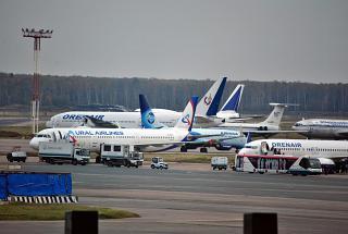 Самолеты на перроне аэропорта Домодедово