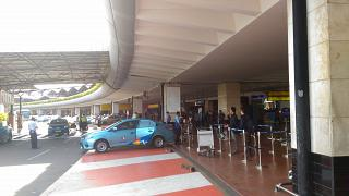 Taxi rank in the arrivals area of airport Jakarta, Soekarno-Hatta