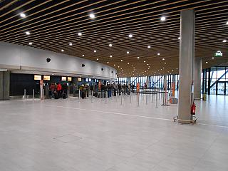 The reception area in terminal 1 of the airport of Lyon Saint-exup