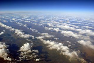 Clouds in the Central part of Russia