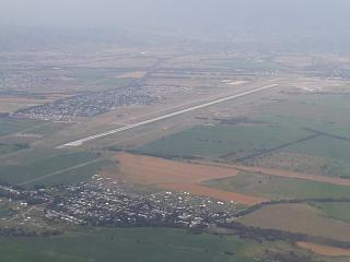 Runway of Almaty international airport