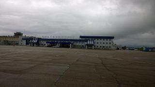 Аэровокзал аэропорта Благовещенск Игнатьево