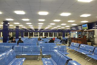 The waiting room at the airport Norilsk Alykel