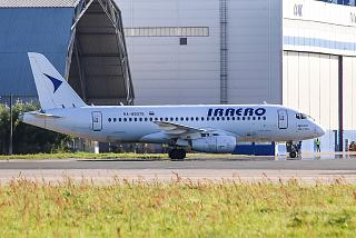 Sukhoi Superjet 100 RA-89075 of the airline Iraero at Zhukovsky airport