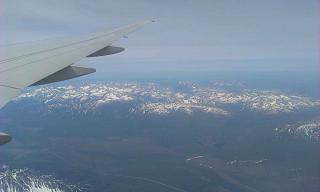 In flight over Kamchatka