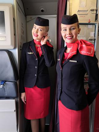 Stewardesses of the airline Ural airlines