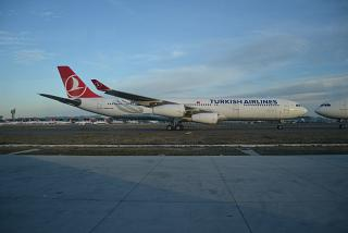 Airbus A340-300 Turkish airlines in Istanbul Ataturk airport