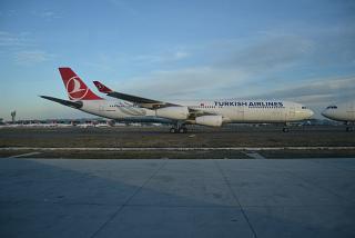 Airbus A340-300 Турецких авиалинии в аэропорту Стамбул Ататюрк