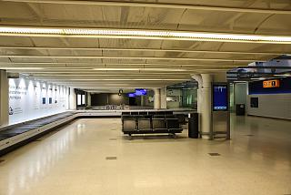 The baggage claim hall in Terminal 1 of Helsinki airport