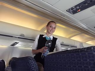 "The stewardess of the airline ""Belavia"""