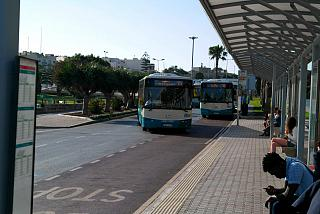 Bus stop at the airport Malta