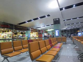 The waiting room in clean area of airport Hanoi, Noi Bai