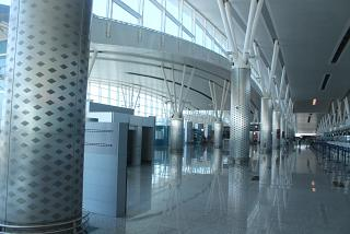 In the terminal building of the airport and Enfidha-Hammamet