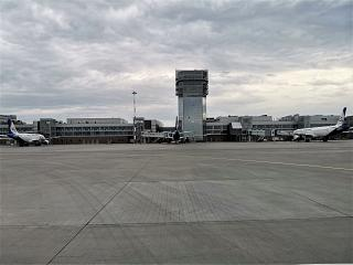 The apron and ATC tower of the airport Ekaterinburg Koltsovo