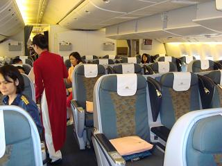 Business class in the Boeing-777-200 Vietnam airlines