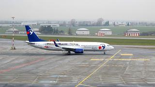 Boeing-737-800 OK-TVL Travel Service airlines at Prague airport
