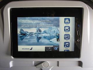 The entertainment system on Board the aircraft Boeing-757-200 Icelandair
