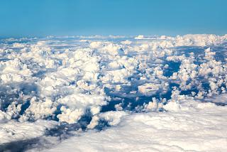 Cumulus clouds over Russia
