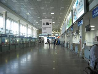 Hall check-in for flights at the airport of Rostov-on-don
