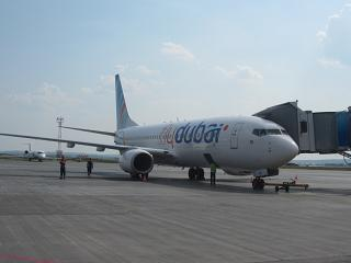 Boeing-737-800 airlines, Flydubai at the airport Koltsovo