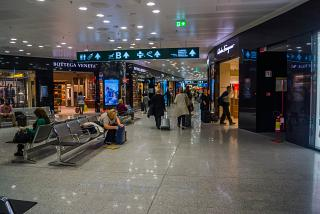 Галерея магазинов в аэропорту Милан Мальпенса