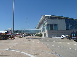 The view from the platform at the passenger terminal of the Olbia Costa Smeralda airport