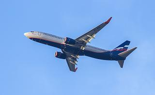 Boeing 737-800 of Aeroflot in the sky