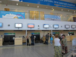 Reception at the airport of Tallinn