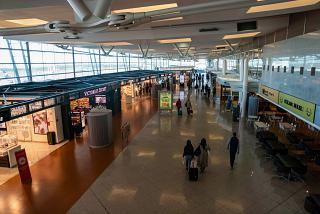 In a clean area of the airport Porto Francisco Carneiro