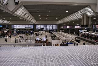 The check-in area in terminal 2 of Tokyo Narita Airport