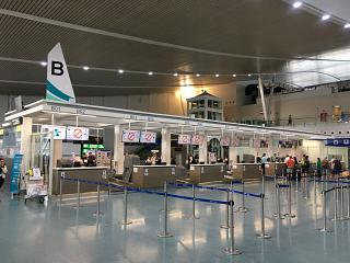 Check-in desks at the airport of Phuket