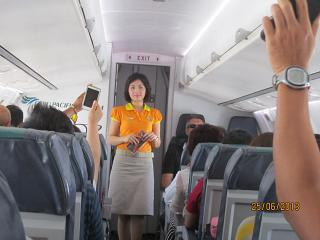Airline stewardess Cebu Pacific