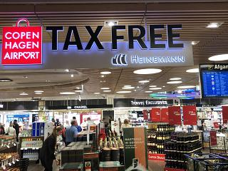The duty-free shop in terminal 2 of Copenhagen airport Kastrup
