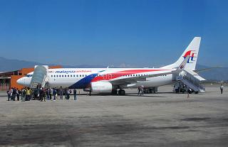 Boeing 737-800 авиакомпании Malaysia Airlines в аэропорту Катманду