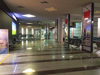 Net in the domestic flights area of the airport of Sochi