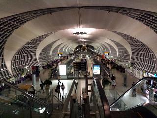 The gallery of gates at the airport Bangkok Suvarnabhumi