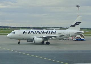 The Airbus A319 OH-LVA Finnair at Helsinki airport, Vantaa